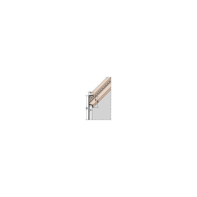 Atikový odvetrávací, PVC (2,5m) (čierny)