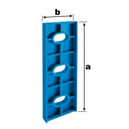 TERMOSTOP PODLOŽKA POD UHOLNÍK 150x44x6 Modrá, pre hliník